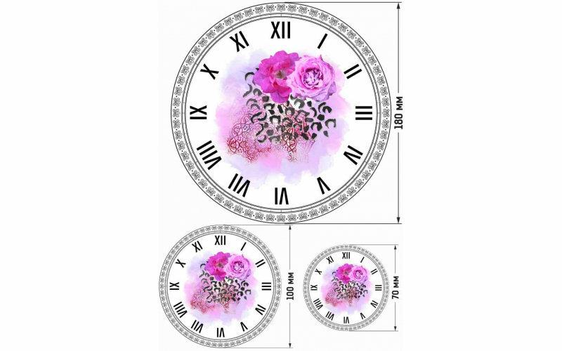 """Рисовая бумага CraftPremier. Плотность - 20 гр/кв.м., """"Часы с цветами"""" размер А4"""