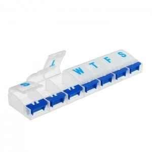 Органайзер для таблеток на неделю, 21,5 х 5,5 см