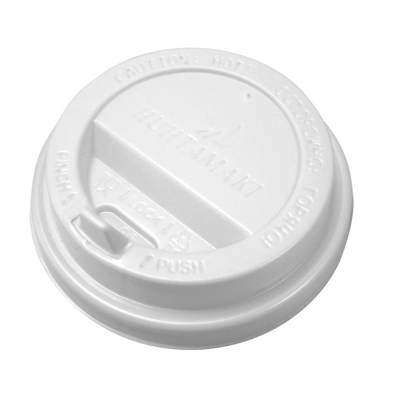 Крышка пластиковая белая D90 мм. (для стакана 300мл.) с клапаном (в упаковке 100 шт)