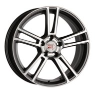 "Диски 1000 Miglia MM1002 Dark Anthracite Polished 18""/8"", PCD 5x112, ET 45, DIA 66.6 - фото 1"