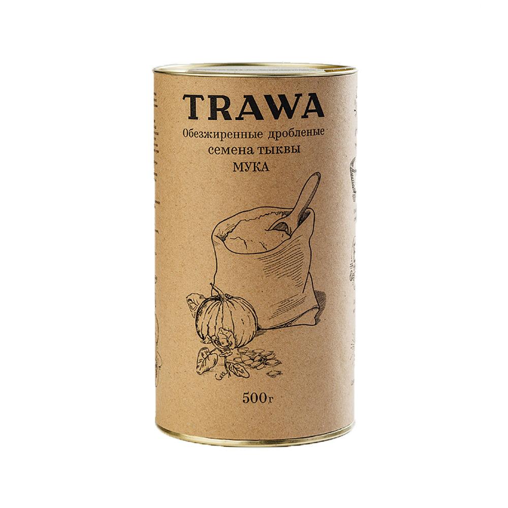 Мука из обезжиренных семян тыквы, 500 мл - Trawa