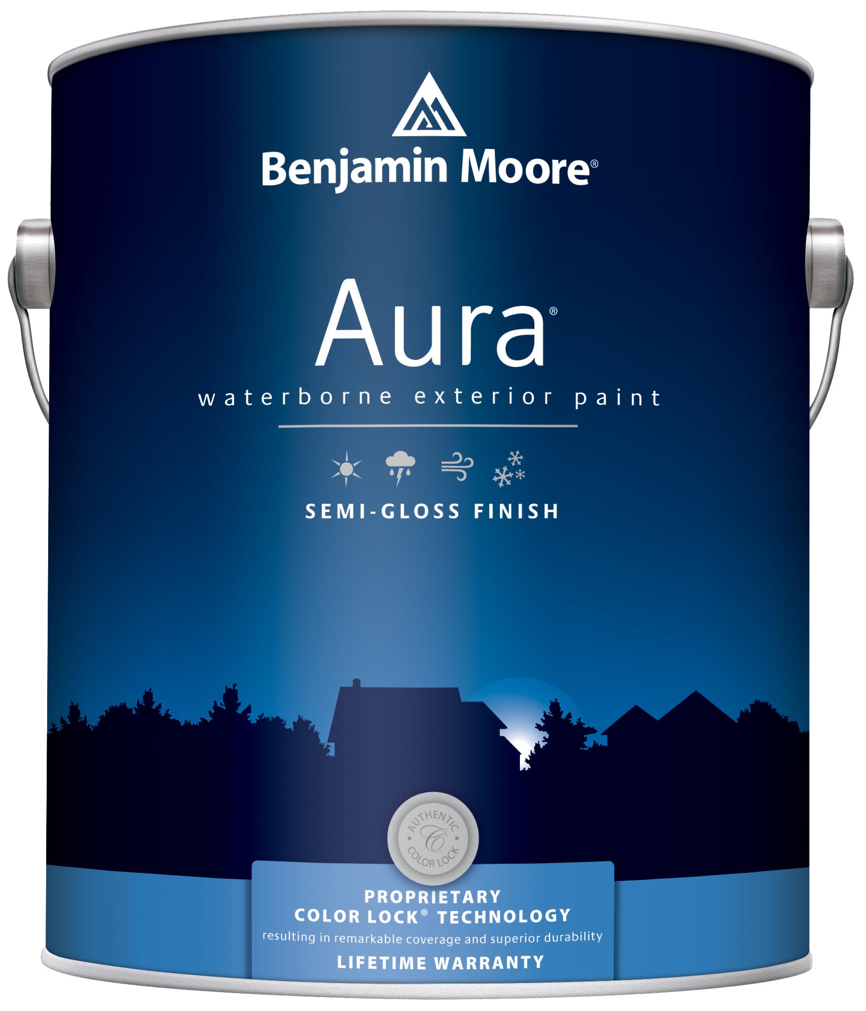 Краски для минеральных поверхностей Benjamin Moore Aura 632 Exterior Paint Semi-Gloss Finish краска для наружных работ, сатин.бел.(3,8л)