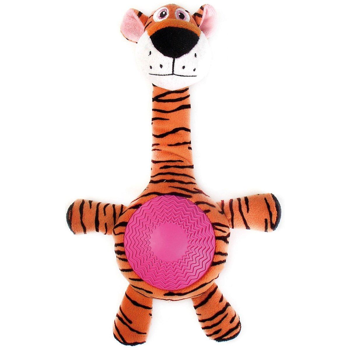 """Игрушка плюшевая """"Тигр"""" с резиновым животиком и пищалкой (21см), V.I.Pet 13404"""