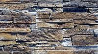 Декоративный камень Baastone Сланец Классический палевый-коричневый-черный 104 (375x90x8-14)