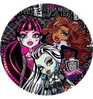 Набор бумажных тарелок Monster High Страшно красивые 10 штук