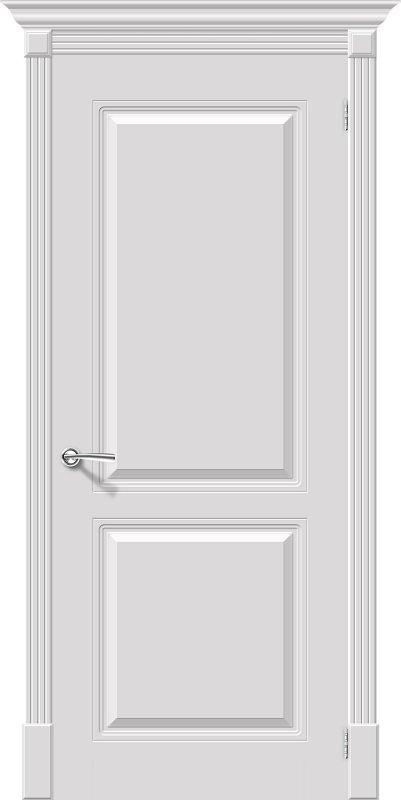 Межкомнатная дверь Браво Блюз пг белый эмалированная, Глухая / 700x2000 / Полотно