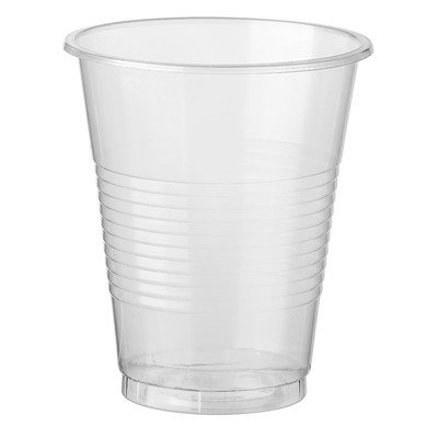 Стакан одноразовый для холодных и горячих напитков, п/прозрачный (0,2л, 12шт./уп)