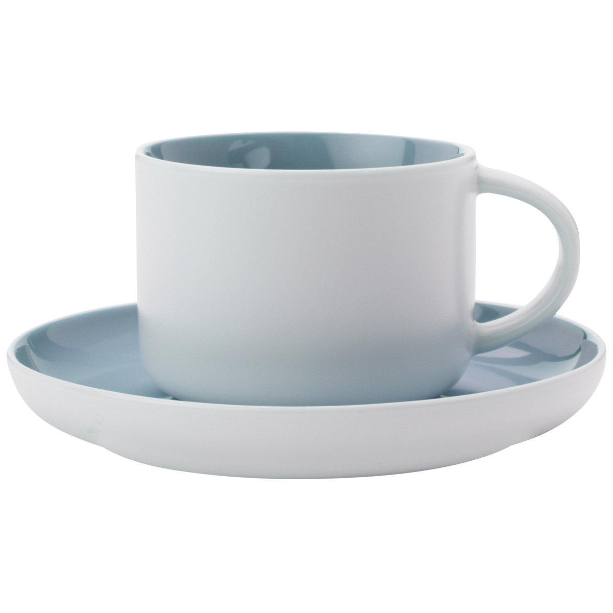 Пара чайная Оттенки голубая 250мл фарфор