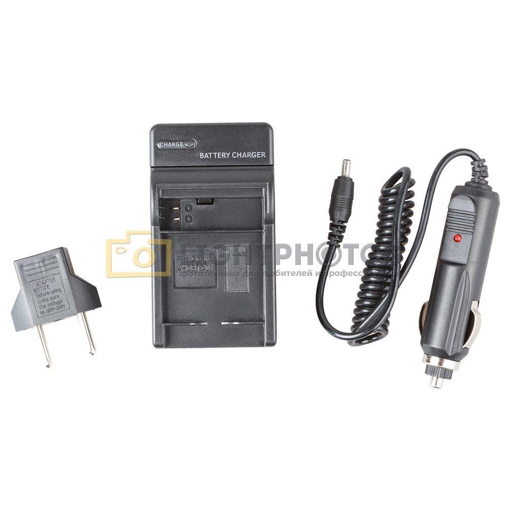 Зарядное устройство Fujimi GP AHDBT-401 с автомобильным адаптером для экшн-камер GoPro 4