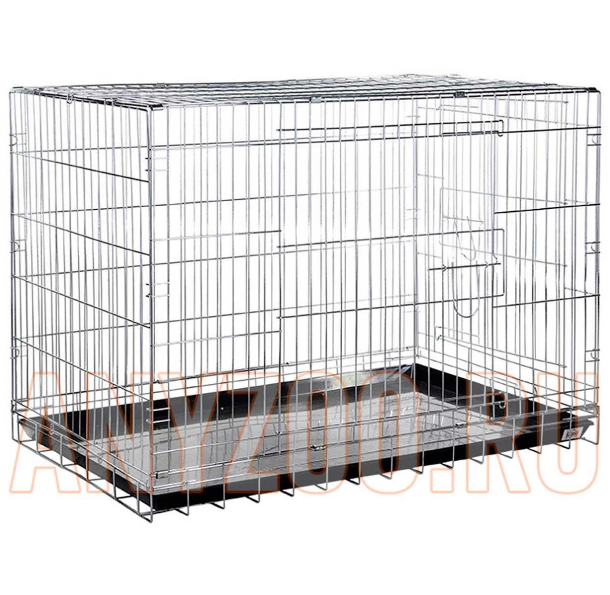 Kredo Клетка для собак 2 двери. хром,с пластмассовым поддоном 108*69*78 1шт ( Клетки, вольеры для собак )