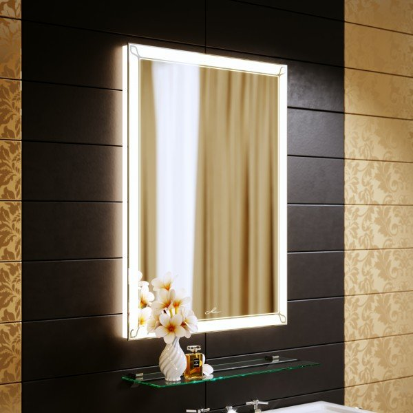 Alavann Зеркало с подсветкой Retro 60