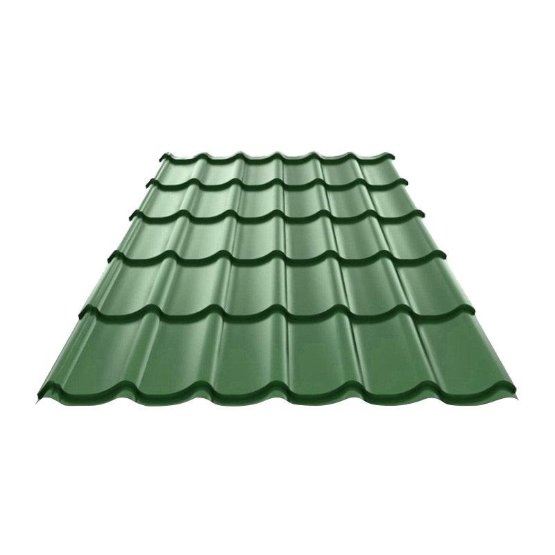 Металлочерепица (ral 6005) зеленый мох 1190х1200х0,4мм (1,428м2) Без тм, 165506