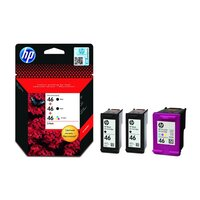Набор картриджей HP F6T40AE (CZ637AE-2шт/CZ638AE) (черный+цветной) для Deskjet IA 2520hc/2020hc