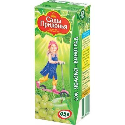 Сок Сады Придонья Яблоко-Виноград с 6 мес 200 мл