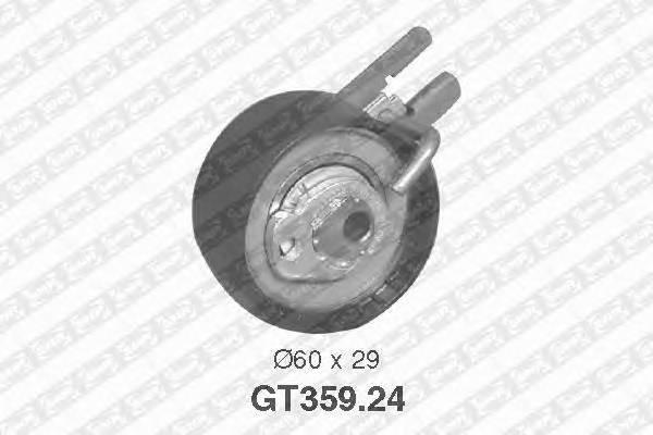 Ролик натяжной ремня грм ford fiesta, citroen c3, peugeot 206-407 1.4hdi 01 Snr GT35924