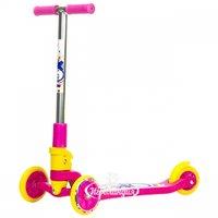 Amigo Самокат трехколесный Explore Tredia-Sport, розовый, колеса 120/76 мм 21302