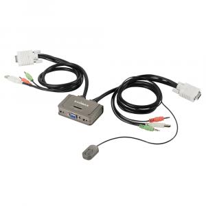 Edimax EK-2U2CA - 2-портовый USB KVM переключатель с кабелями и аудио поддержкой