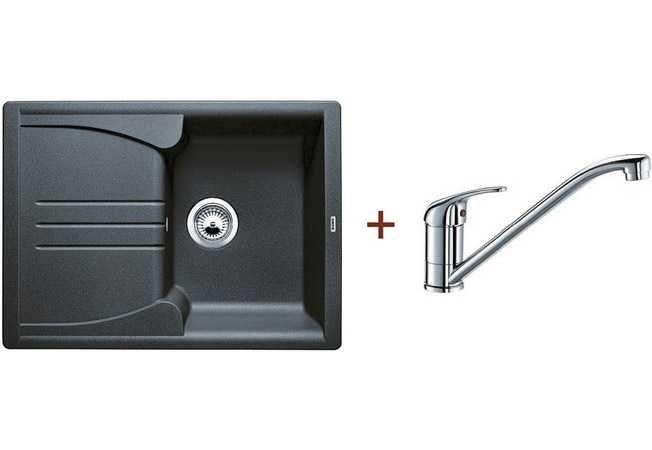Кухонная мойка Blanco комплект из мойки ENOS 40 S антрацит и смесителя DARAS хром (513799D1)