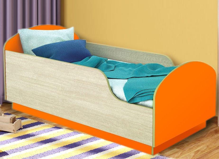 Детская Кровать Малыш 140 Оранжевый
