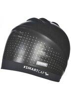 Шапочка для плавания (для длинных волос) Arena Smart Cap Training, черный, черная полоса