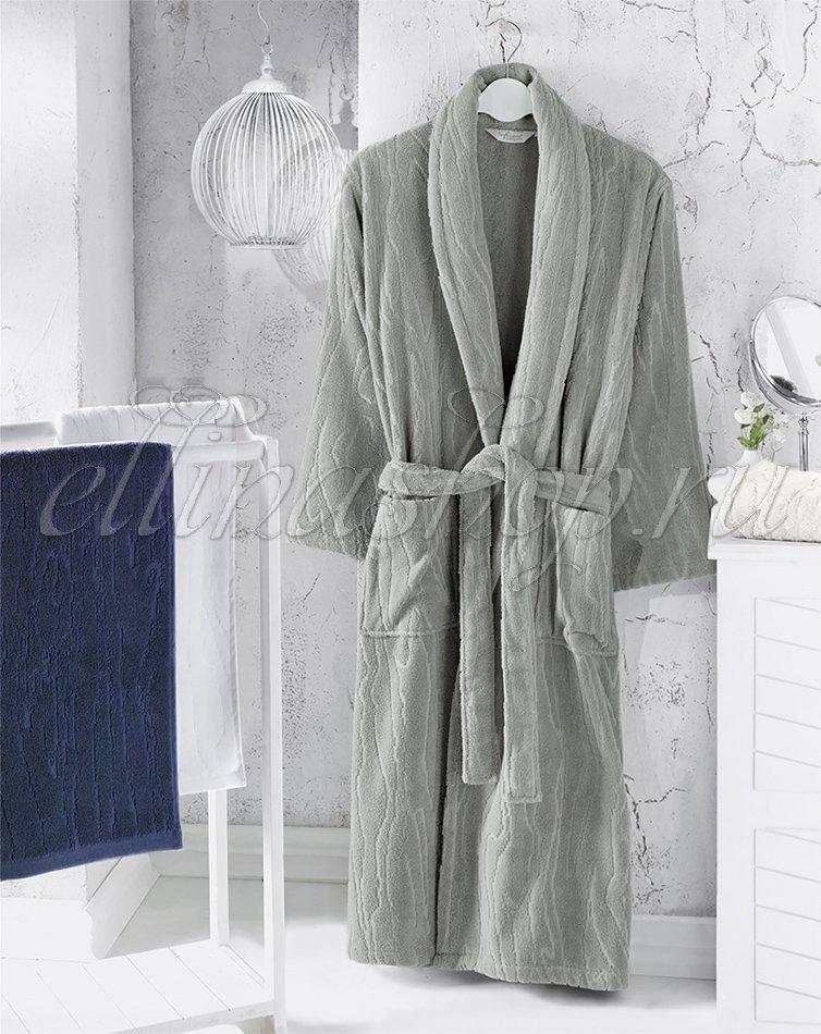 Sortie мужской махровый халат Soft (синий), 54-56