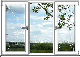 Пластиковое окно Окно ПВХ Пластиковое Окно Blitz Design - размер 1450мм*1850мм