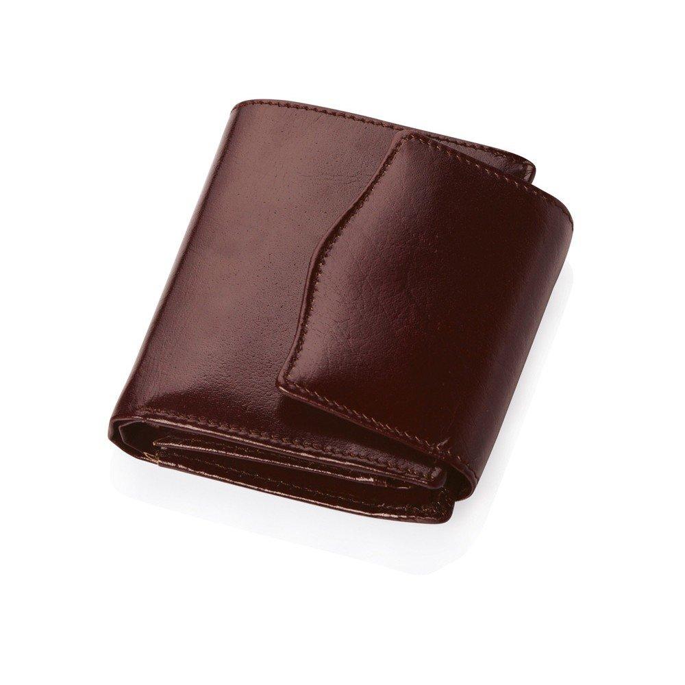 Кожаное портмоне «Варшава» с отделениями для кредитных карт и монет, коричневое
