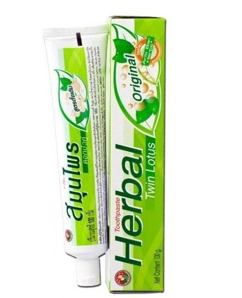 Зубная паста TWIN LOTUS с травами оригинальная, 100 гр