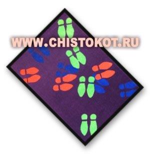"Коврик грязезащитный ""Следы - авангард"" на ПВХ, 85х150 см"
