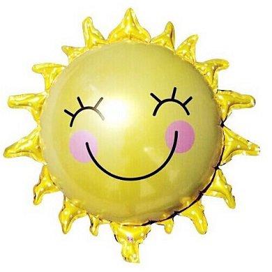 Солнце. Воздушные шарики из фольги