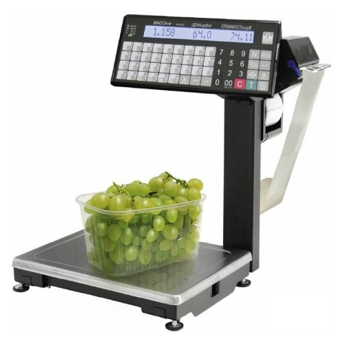Весы с печатью этикетки масса ВПМ-15.2-Т1 MF