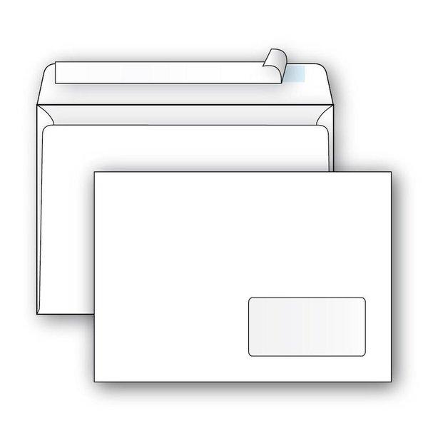 """Конверт почтовый """"Ecopost"""", С5 (162х229 мм), белый, стрип, правое окно (1000 штук)"""