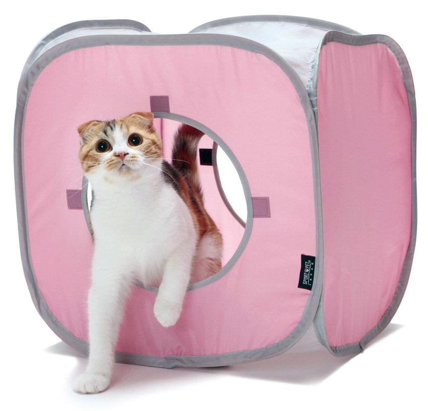 "Kitty City Домик для кошек ""Кубик Рубик"", 38x38x38 см (180 г)"