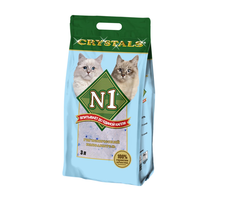 Наполнитель №1 Crystals силикагелевый для кошек (12,5 л, )
