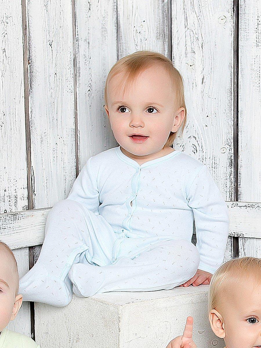 Комбинезон нательный для малыша Lucky Child 0-12/голубой
