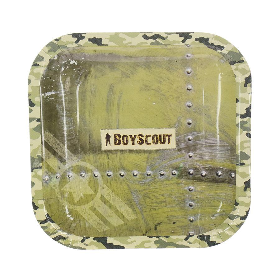 одноразовые тарелки Boyscout Набор бумажных тарелок Boyscout, 23х23 см, 6 шт.