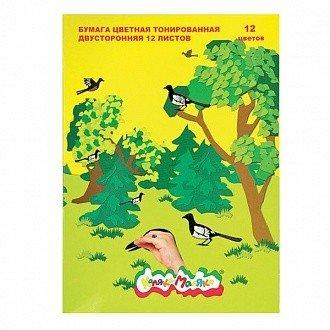 Цветная бумага A4 Каляка-Маляка 12 л. 12 цв.