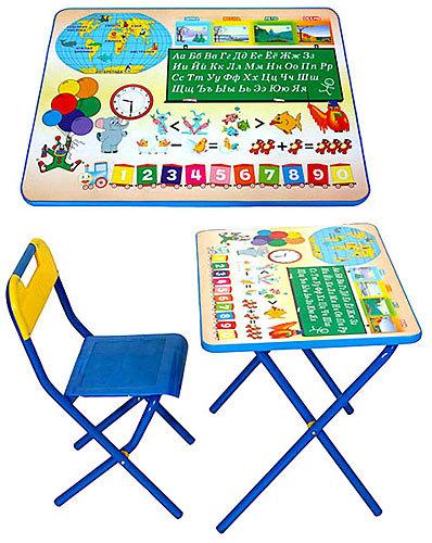 Набор детской мебели Дэми №1 Глобус, цвет: синий