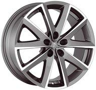 Колесные диски FONDMETAL 7600 7x16 5x114.3 ET35 D66.1 Серый с полированной лицевой частью (7600 7016355114CTA2) - фото 1