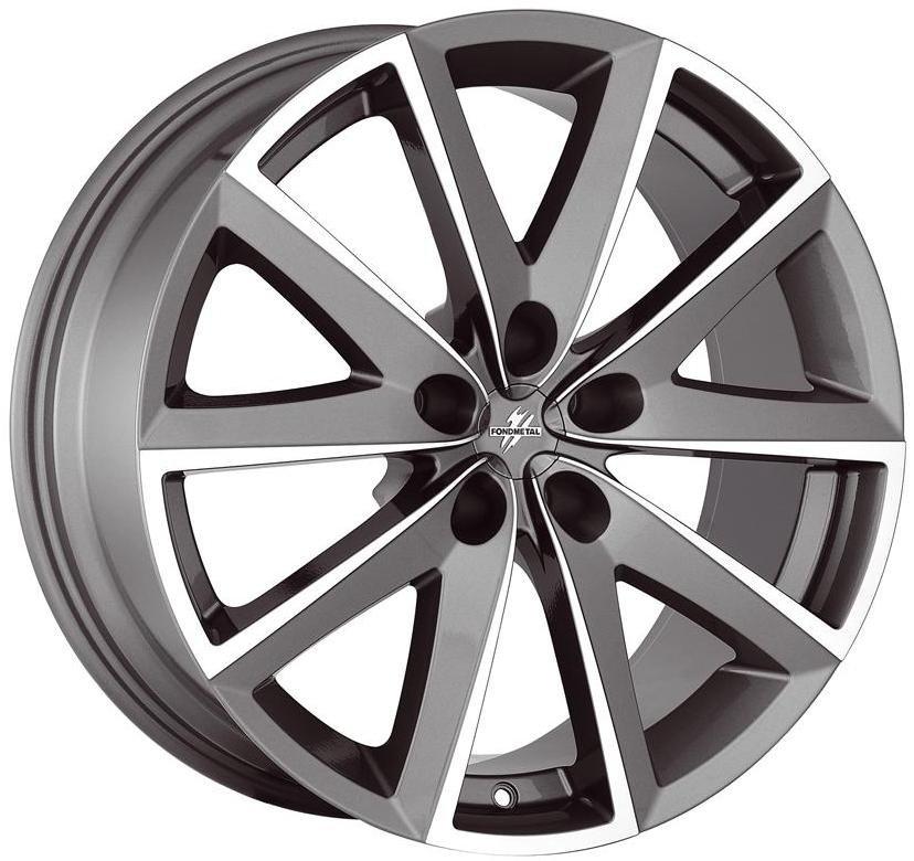 Колесные литые диски FONDMETAL 7600 7.5x17 5x112 ET48 D67.2 Серый с полированной лицевой частью (7600 7517485112ZTA2)