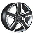 Колесные литые диски RADIUS R12 Matt Black 8x18 5x112 ET50 D75 Чёрный матовый и хромированные вставки (RS0128018AB5HK50NB) - фото 1
