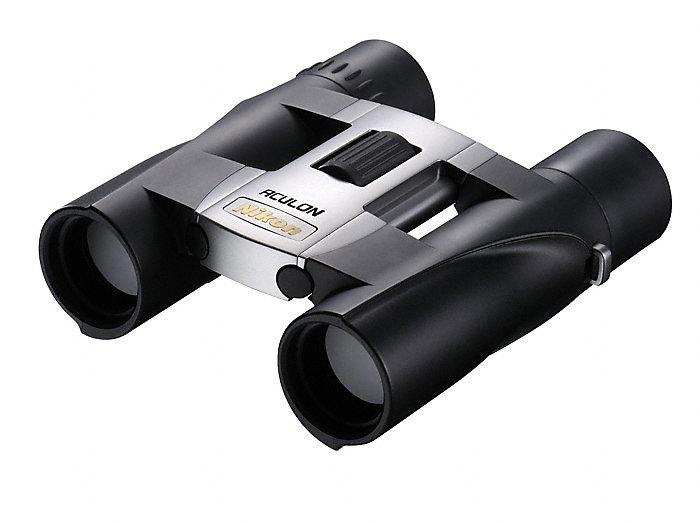 Бинокль Nikon Aculon А30 10x25, серебристый