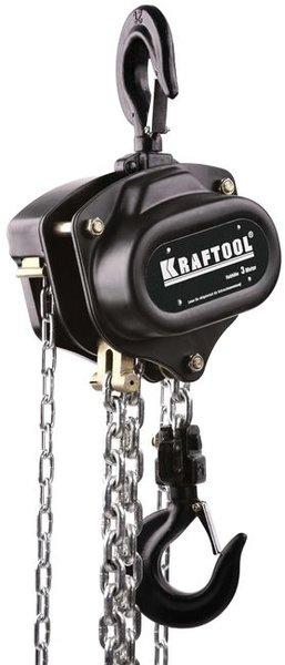 Таль цепная шестеренная 1 т 3 м Kraftool 43087-1