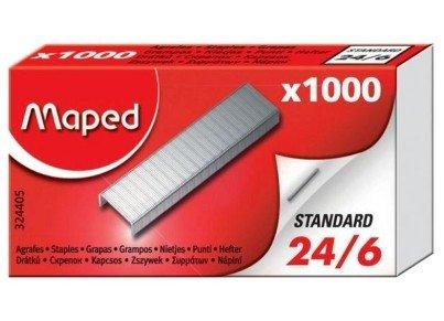 Кнопки, скрепки, зажимы для бумаг Maped Скобы №26/6 1000 шт, картонная уп-ка