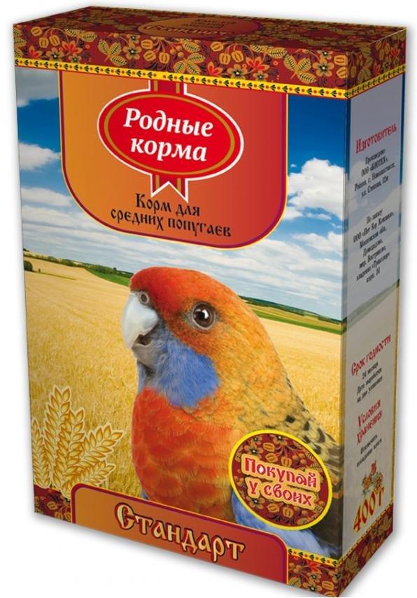 "Корм для средних попугаев Родные корма ""Стандарт"", 400 г"