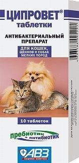 Ветеринарные препараты Ципровет 10таб Лечение и профилактика воспалительных и инфекционных заболеваний глаз Арт.18.704