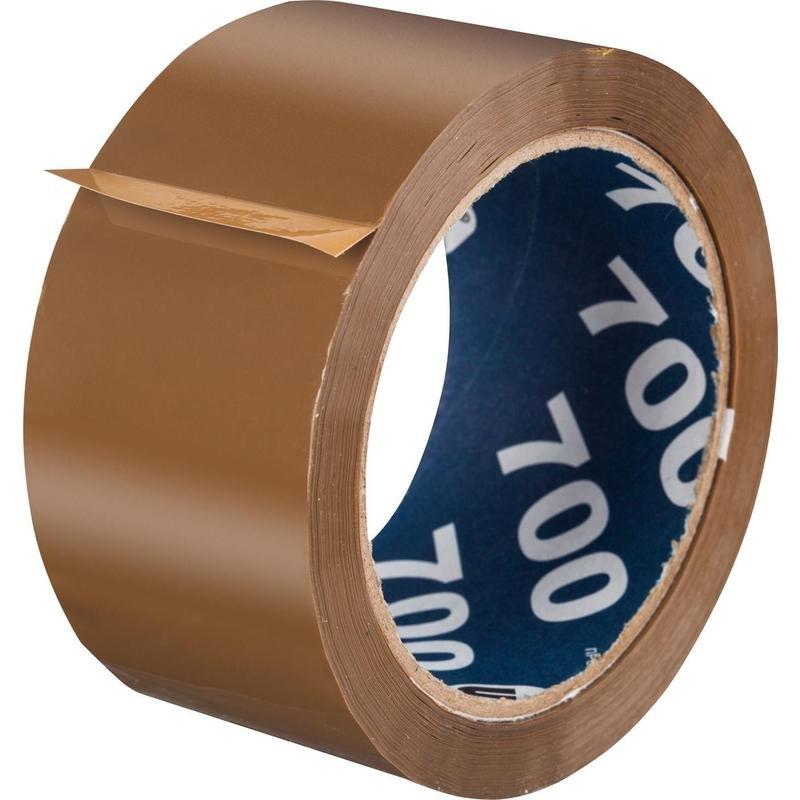 """Клейкая лента упаковочная """"Unibob"""", коричневая, 50 мм x 66 метров, 47 мкм"""
