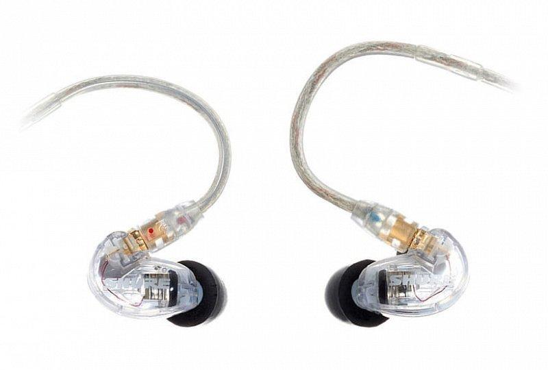 SHURE SE215-CL-EFS наушники внутриканальные (наушники вставные) с одним динамическим драйвером, прозрачные.