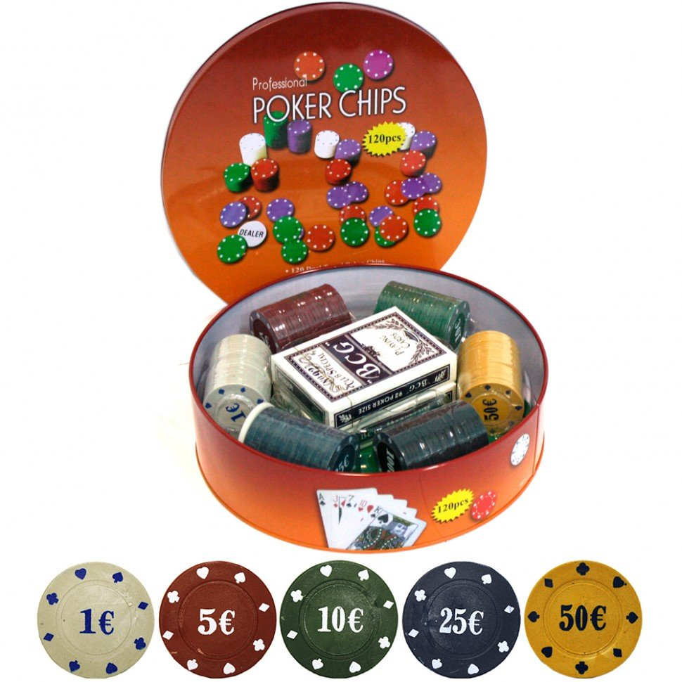 Набор для покера Holdem Lite 120 фишек