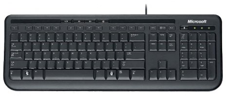 Клавиатура Microsoft Wired Keyboard 600 Black USB [проводная клавиатура/USB/black]